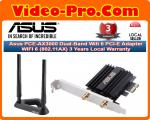 Asus PCE-AX3000 Dual-Band Wifi 6 PCI-E Adapter WIFI 6 (802.11AX) 3 Years Local Warranty