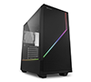 Sharkoon RGB Flow ATX Casing with Two integrated Addressable RGB Strips + 1x120mm Fan