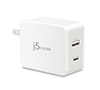 J5 CREATE JUP2230F 2Port 30W PD USB-C Wall Charger