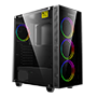GameMax S701 Black Micro-ATX Gaming Case w/300W PSU