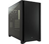 Corsair iCue 4000D Black Tempered Glass Mid-Tower Case CC-9011198-WW