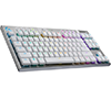 Logitech G915 TKL TenKeyLess White Tactile Lightspeed Wireless RGB Mechanical Gaming Keyboard 920-009660 2-Years Local Warranty
