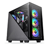 Thermaltake Divider 300 ARGB Triangular Tempered Glass Type-C Black ATX Mid Tower Computer Case with 3x120mm ARGB Fan CA-1S2-00M1WN-01