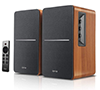 Edifier R1280DBs Active Bluetooth Brown Bookshelf Speakers - Optical Input - 2.0 Wireless Studio Monitor Speaker - 42W RMS with Subwoofer Line Out