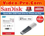 Sandisk iXpand Mini 32GB SDIX40N Flash Drive USB 3.0 with Lightning Connector for iPhones, iPads & Computers SDIX40N-032G-GN6NN 2-Years Local Warranty