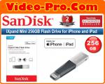 Sandisk iXpand Mini 256GB SDIX40N Flash Drive USB 3.0 with Lightning Connector for iPhones, iPads & Computers SDIX40N-256G-GN6NE 2-Years Local Warranty