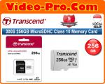 Transcend 300S 256GB MicroSDHC Memory Card Class 10 UHS-I TS256GUSD300S-A (Up to 95MB/s Read, 45MB/s Write)