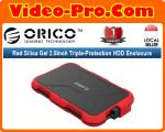 Orico 2769U3 Red Silicon Gel 2.5Inch Triple-Protection USB 3.0 HDD Enclosure