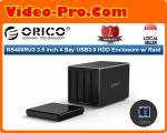 Orico NS400RU3-BK-PRO 3.5inch 4Bay USB3.0 Hard Drive Enclosure with RAID