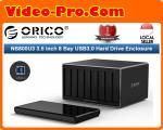 Orico NS800U3-BK-PRO 3.5inch 8Bay USB3.0 Hard Drive Dock