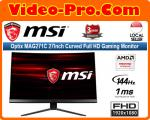 MSI Optix MAG271C 27Inch Curved Full HD Gaming Monitor 144Hz Refresh Rate, 1ms Response Time FreeSync