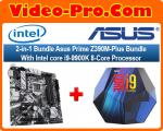 2-in-1 Bundle Asus Prime Z390M-Plus Bundle With Intel Core i9-9900K 8-Core Processor