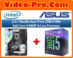 2-in-1 Bundle Asus Prime Z390-A Motherboard Bundle With Intel Core i5-9400F 6-Core Processor