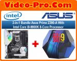 2-in-1 Bundle Asus Prime Z390-A Motherboard Bundle With Intel Core i9-9900K 8-Core Processor