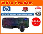 HP GK1100 6-COLOR LED Back Light Gaming Keyboard Mouse Combo 1 Year Local Warranty