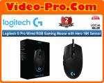 Logitech G Pro Wired RGB Gaming Mouse with Hero 16K Sensor 910-005442 2-Years Local Warranty