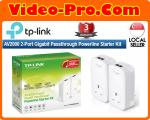 TP-Link TL-PA9020PKIT AV2000 2-Port Gigabit AC Passthrough Powerline Starter Kit