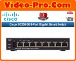 Cisco SG250-08 Gigabit Ethernet Smart Switch with 24 10/100/1000 Ports and 2 Combo Mini-GBIC Ports (SLM2024T)