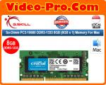 Crucial So-Dimm PC3-10600 DDR3-1333 8GB (8GB x 1) Memory For Mac CT8G3S1339M