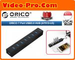 Orico H7013-U3 Ultra-Compact & Lightweight Super Speed 7 Port USB 3.0 Hub with DC 5V USB Cable