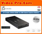 J5 Create JVA04 HDMI To USB Game Capture Station (HDMI To USB-C, Include USB-C To USB-A Cable)