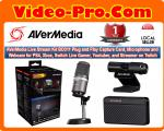AVerMedia Live Stream Kit BO311 Plug and Play Capture Card, Microphone and Webcam for PS4, Xbox, Switch Live Gamer, Youtuber, and Streamer on Twitch