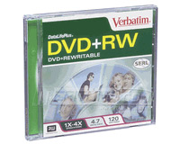 Verbatim 4x DvD+RW 4.7GB Jewel Case (1pc)